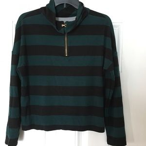 Chicos Woman's Striped Long Sleeves Top SZ 1-C1